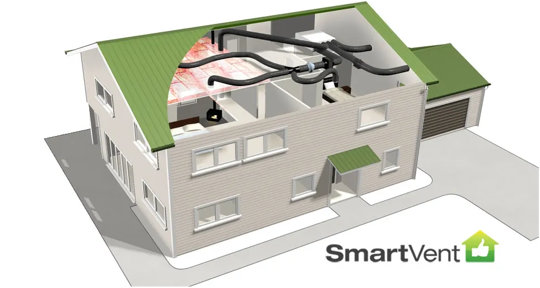 SmartVent roof system